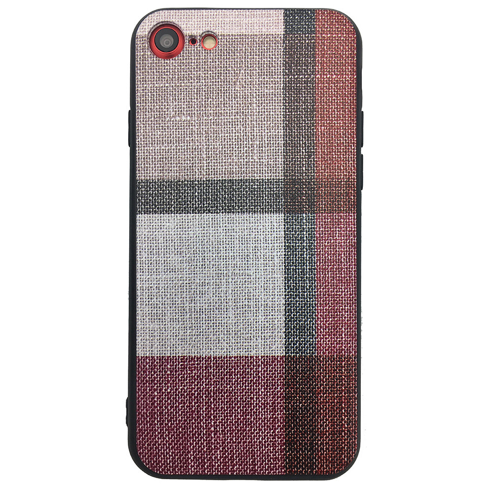 Чехол  Fabric Print for Apple iPhone 7/8 (red)