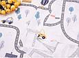 Сатин (хлопковая ткань) дорожки (дороги) (85*160), фото 3