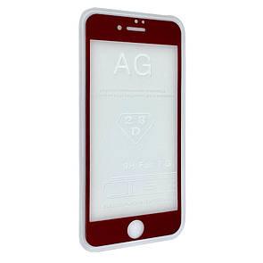 Защитное стекло  весь экран matt for Apple iPhone 7 Plus front (red)