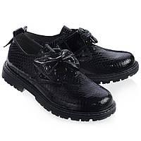Школьные туфли для девочки,кожаные. Турция.Theo Leo RN503 38 24.5 см Синие