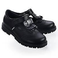 Школьные туфли для девочки,кожаные,черные.Турция.Theo Leo RN504 р.28 18.3 см