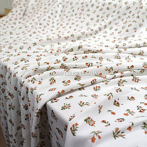 Ткань штапель твил принт мелкие цветочки