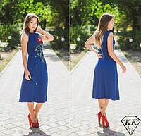 Синее платье 152030