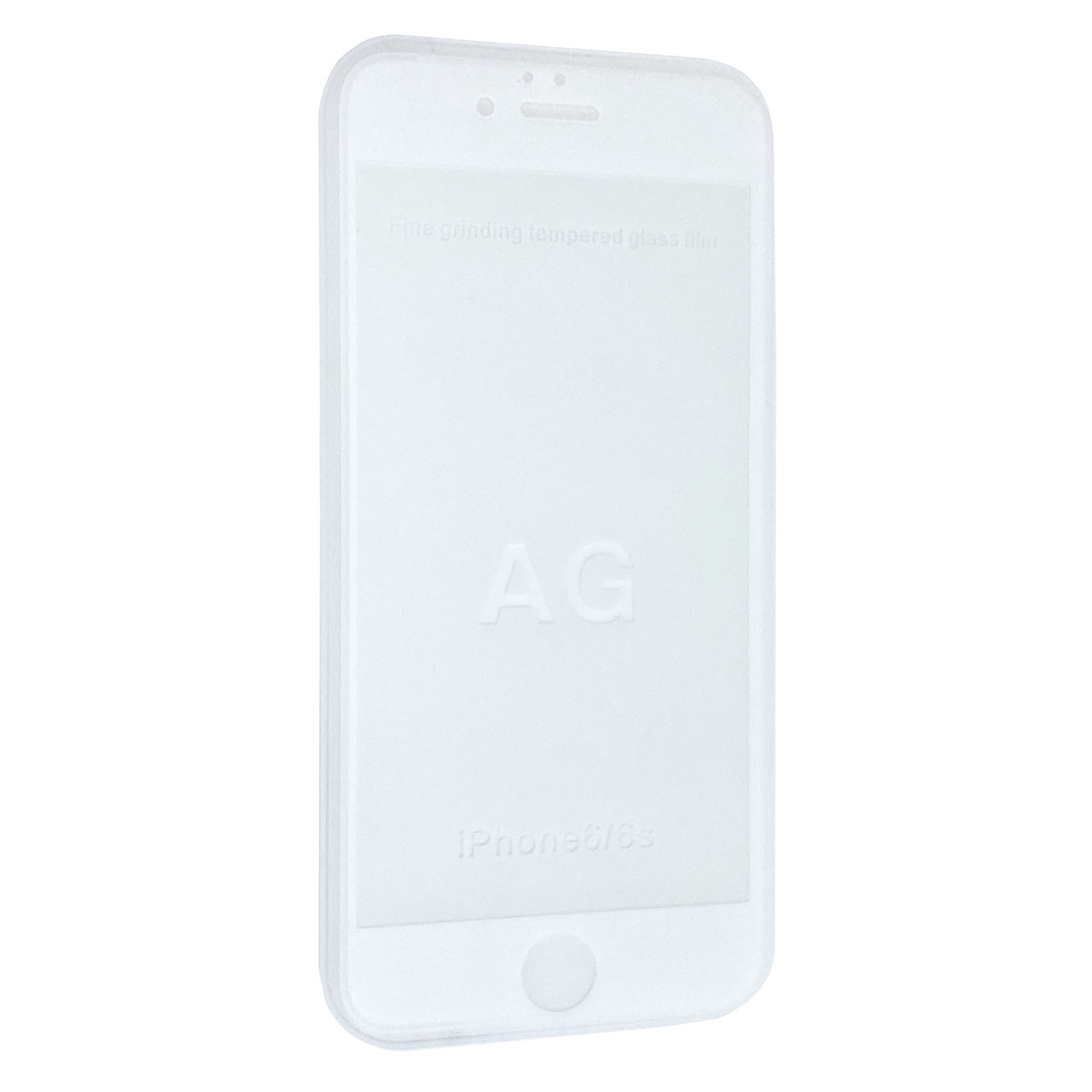 Защитное стекло  весь экран matt for Apple iPhone 6/6S front (white)