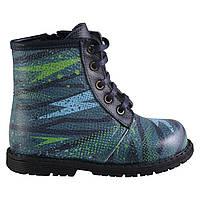 Ботинки Theo Leo RN600 28 18.3 см Черно-синие,зеленые