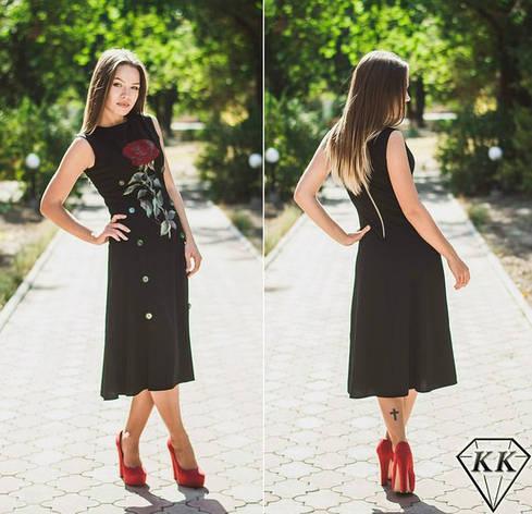 Черное платье 152030, фото 2