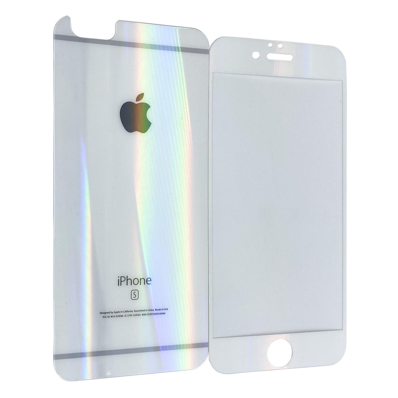 Защитное стекло  for Apple iPhone 6/6S pearl back/face white