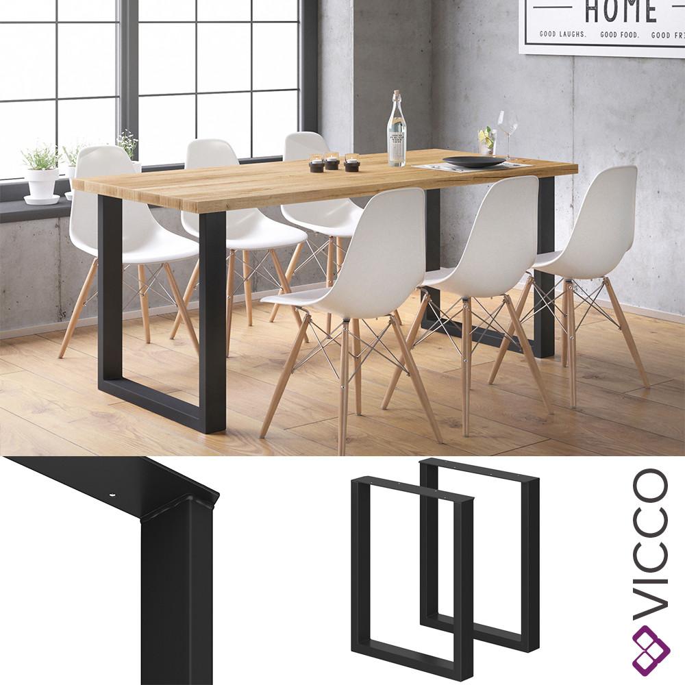 Ножки для стола лофт 72x60 Vicco 2шт, черные