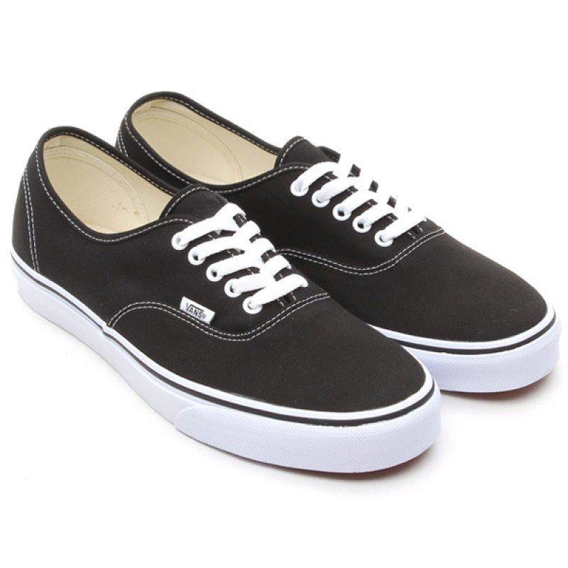 Кеды текстильные Vans Authentic низкие Черно-белые (36 р.)