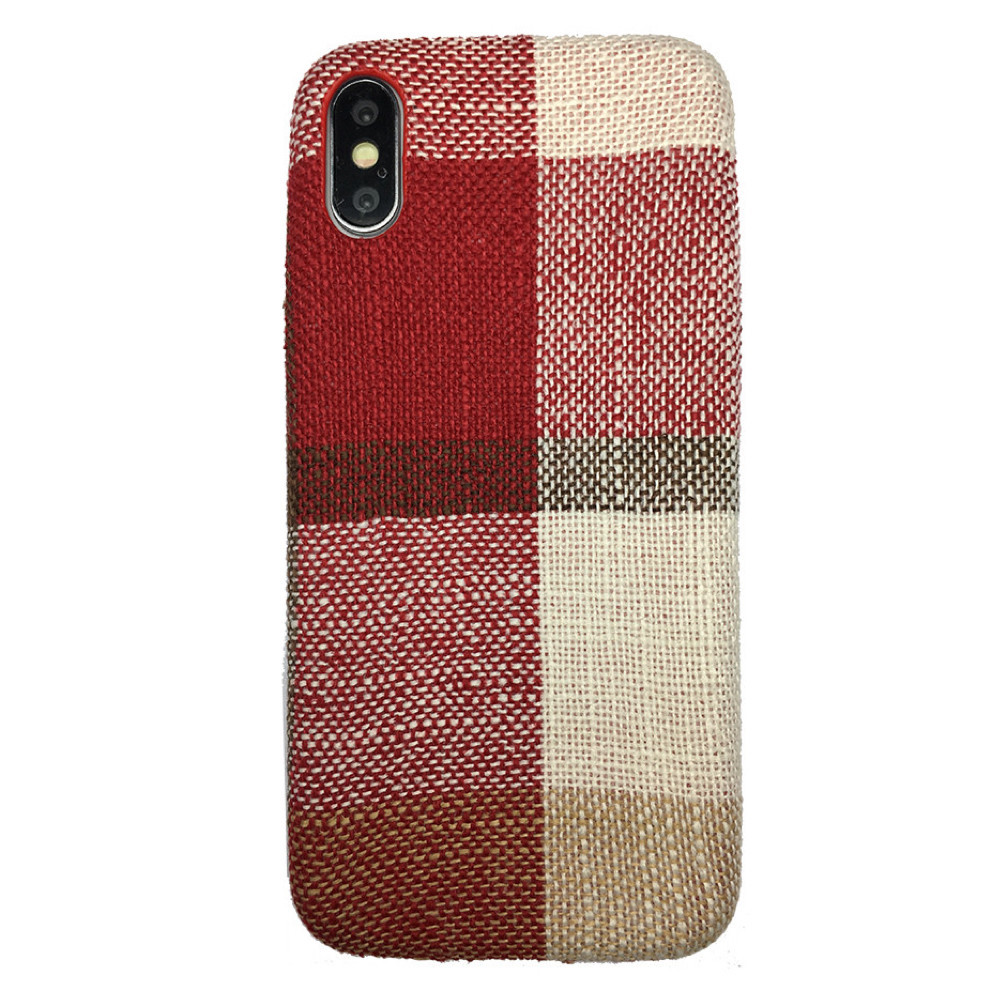 Чехол  Fabric Square for Apple iPhone XS (red)