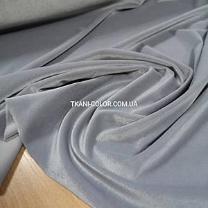 Ткань бархат стрейч светло-серый