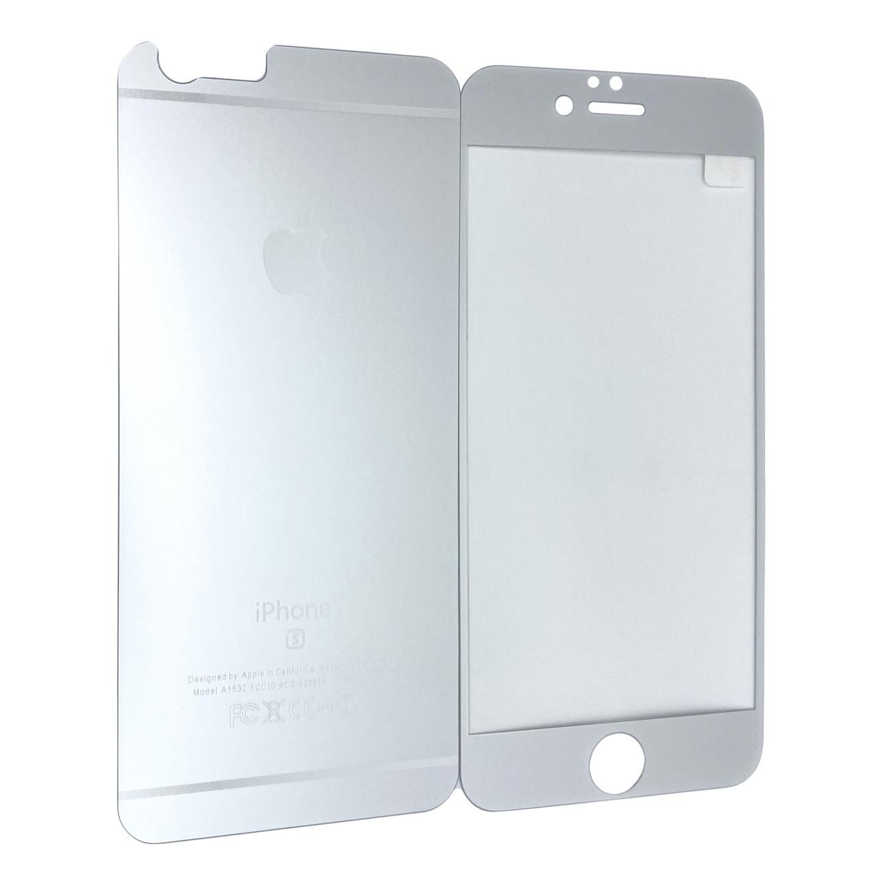 Защитное стекло  for Apple iPhone 6/6S matt back/face silver
