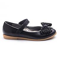Стильные,школьные туфли для девочки, кожаные.Турция.Theo Leo RN747 р.38.Черные