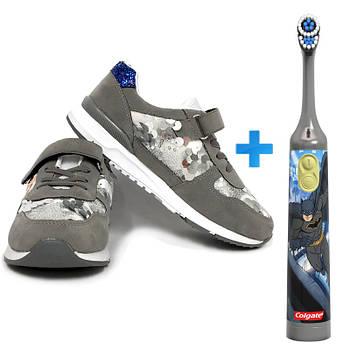 Фірмові кросівки дитячі KELSI +електрична зубна щітка Colgate Batman 010321