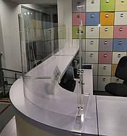 Настольная перегородка полукруглая, термоформование, фото 1