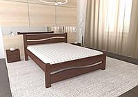 Двуспальная Кровать из дерева сосна 140*200 Волна MECANO цвет Темный орех 5MKR012