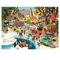 Пазл-игра для детей Crocodile Creec «Зоопарк» (48 деталей)