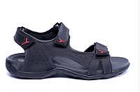 Мужские кожаные сандалии E-series Flex Zone Tracking black черные, фото 1