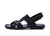 Чоловічі шкіряні сандалі CARDIO black чорні