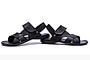 Мужские кожаные сандалии CARDIO black черные
