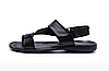 Мужские кожаные сандалии VanKristi black черные