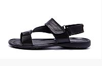 Мужские кожаные сандалии VanKristi black черные, фото 1