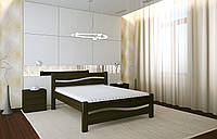 Двуспальная Кровать из дерева сосна 160*200 Волна MECANO цвет Венге 5MKR017