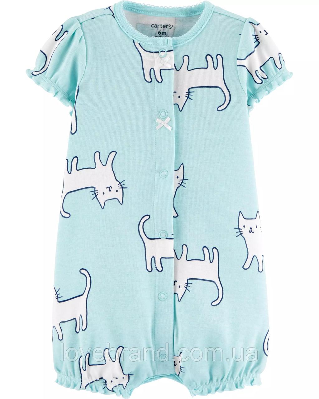 Хлопковый песочник Carters для девочки Котёнок