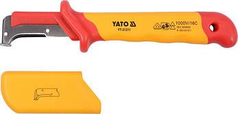 Ніж для зняття ізоляції діелектричний YATO YT-21211, фото 2