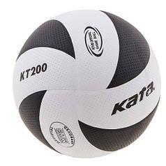 Мяч волейбольный Kata200 PU бело-черный