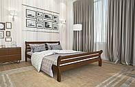Кровать Двуспальная из дерева сосна 160*200 Аркадия MECANO цвет Темный орех 3MKR011