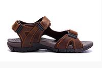 Мужские кожаные сандалии DEFF brown коричневые, фото 1