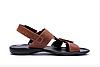 Мужские кожаные сандалииCARDIO brown коричневые