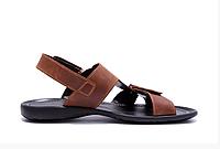 Мужские кожаные сандалииCARDIO brown коричневые, фото 1