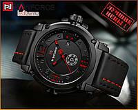Оригинальные Мужские Наручные часы Naviforce NF9099 Black-Red