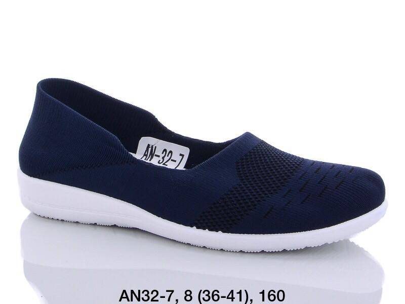 Балетки женские текстильные синие LION AN32-7