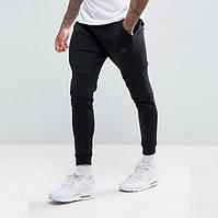 Штаны спортивные мужские NIKE M NSW TCH FLC JGGR черные