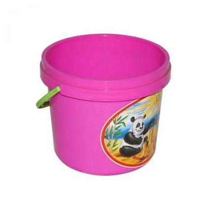 Ведёрко для песка розовый 0521