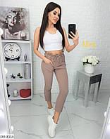 Женские брюки с завышенной посадкой