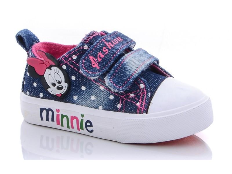 Кеды детские для девочки Микки Маус синий цвет размер 25-30 Киев
