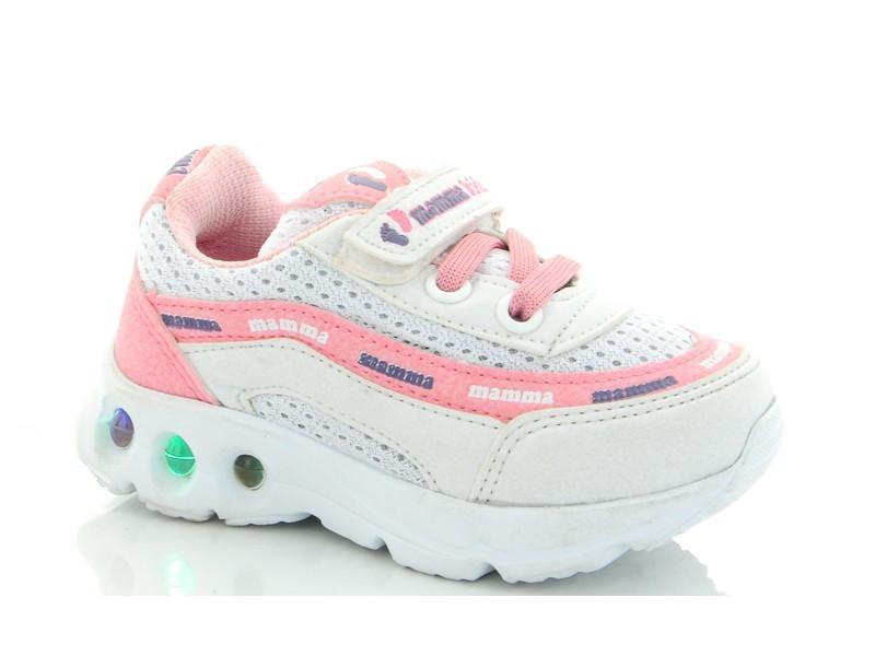 Кроссовки детские бело-розовые для девочки размер 21-25 Киев