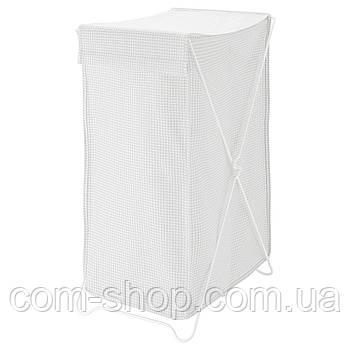 Корзина для грязного белья IKEA большая в ванную, 90 л, белый