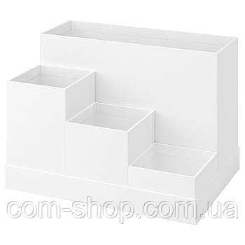 IKEA Подставка д/канцелярских принадлежн, белый, 18x17 см