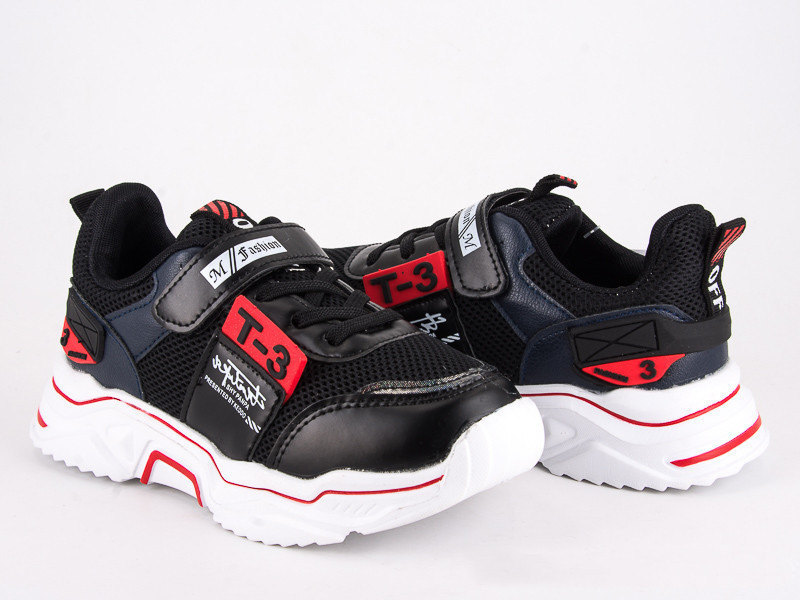 Детские кроссовки для мальчика черный цвет размер 31-36 Киев