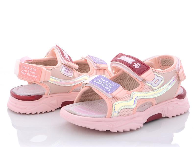 Босоножки для девочки розовый цвет на липучках размер 27, 29,30,31,32 Киев