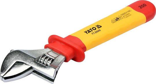 Ключ розвідний діелектричний VDE 200 мм YATO YT-20940, фото 2
