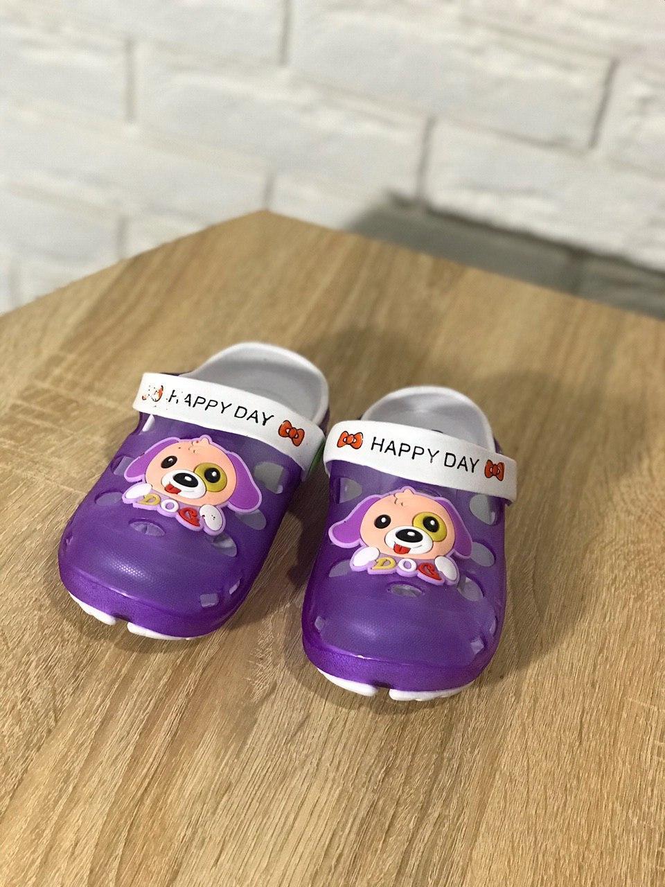 Кроксы детские Микс с собачкой фиолетовый цвет цвет размер 28, 29 Киев
