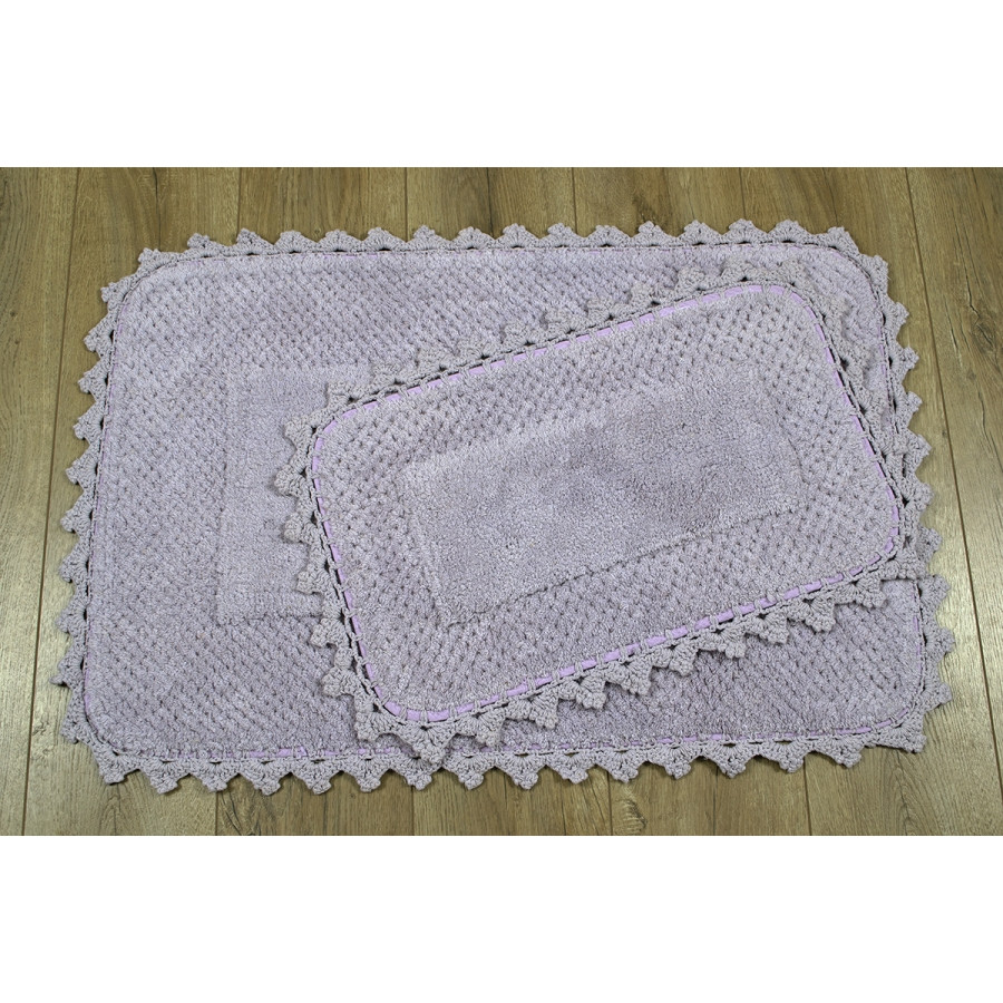Набор ковриков Irya - Carmela mor сиреневый 60*90+40*60
