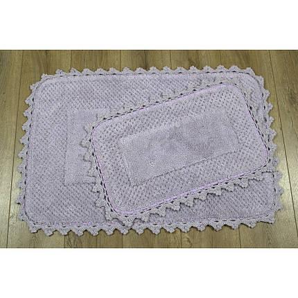 Набор ковриков Irya - Carmela mor сиреневый 60*90+40*60, фото 2