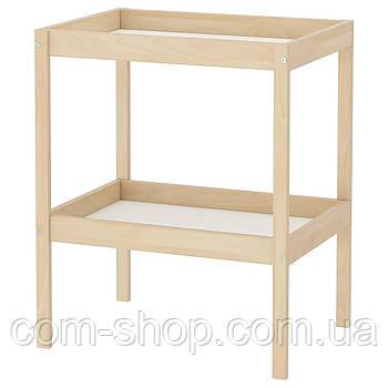 Пеленальный стол IKEA, столик для пеленания, 72x53 см, бук, белый